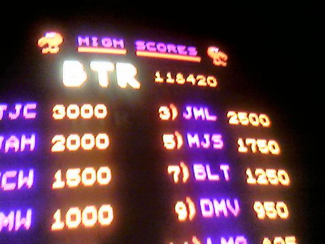 QBert high score! 118420